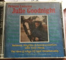 Private Lessons Julie Goodnight 2 Cd Set Theory & Mounted Workouts.
