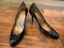 "Tahari Brown ""Babe"" Patent Leather Pump Heels, Size 8.5"