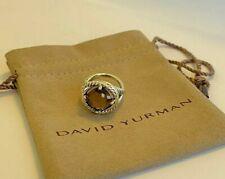 David Yurman Sterling Silver Infinity Smoky Quartz 11mm Diamond Ring 7
