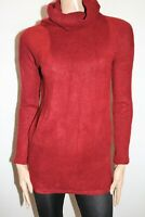 Valleygirl Brand Red Burgundy Long Sleeve Roll Neck Knit Top Size S BNWT #RC68