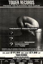 "12/2/94pgn10 THERAPY? : TROUBLEGUM ALBUM ADVERT 15X11"""