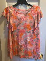 Women's Ann Taylor Loft Outlet Medium Short Sleeve Blouse Shirt 100% Rayon New
