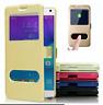 Funda  para Samsung S7  S7 edge Libro Flip con ventana tapa imán PU Piel colores