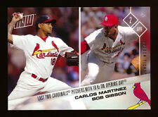 2017 TOPPS NOW #4 BOB GIBSON/CARLOS MARTINEZ GOLDEN TICKET CARDINALS HOF SSP 1/1