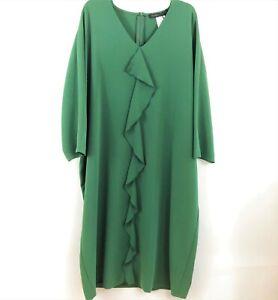 Brand NEW with Tags Marina Rinaldi Elegant  Green Dress Plus Size US22, GB26