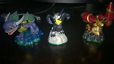 Skylanders Lot of 3 (Zap, Sergeant and Sonic Boom) Xbox, PS, Wii and 3DS