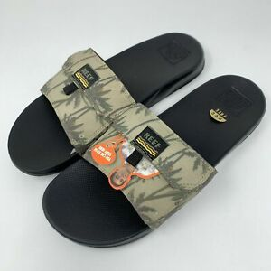 Reef Mens Stash Slide Tan Palm Size