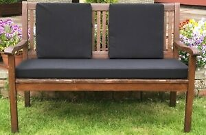 GARDEN BENCH CUSHION - WATER RESISTANT - 4ft & 5ft - WITH OR WITHOUT BACK PADS