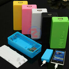 Portable USB Power Bank Charger Pack Box Battery Case 6 Color For 2x18650 DIY