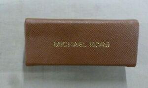 "NEW MICHAEL KORS WOMEN'S LipStick Case/Holder Brown/Gold 3.5"" w/Mirror"
