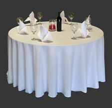 12 RESTAURANT WEDDING LINEN TABLE CLOTHS POLY ROUND 90""