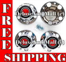 Ford E-150 Bronco F150 Chrome Center Cap Hub Covers Bolt On 4 PCS - W/12 SCREWS