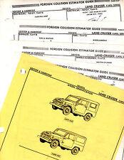 THRU 1974 TOYOTA LANDCRUISER FJ40L FJ 40 L BODY PARTS LIST CRASH SHEETS MFRE