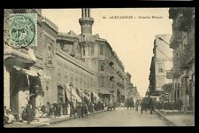 Egypt France Post 1916 PPC Alexandrie PPC Street Scene 5c Alexandrie + postmark