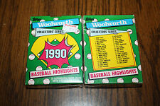 1990 Topps Woolworth Baseball Highlights 33 Card SET FACTORY SEALED