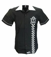 Warrior Clothing-Original Rude Boy Bowling Camisa-Negro-Coventry 1979-Med