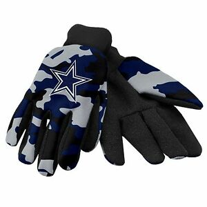 Dallas Cowboys Camouflage Sports Utility Gloves Work gardening NEW CAMO