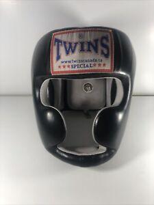 TWINS SPECIAL HEAD GUARD FULL FACE HGL-3 MUAY THAI BOXING MMA SPAR