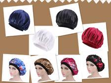 New Women Satin Night Sleep Cap Hair Bonnet Hat Head Cover Elastic Band