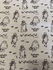 Gray Paddington Bear Print For Camelot Fabrics BTY