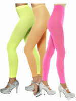 LADIES 80s  FOOTLESS TIGHTS NEON NIGHTS DISCO ACCESSORY