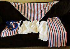Vintage Ladies Patriotic 4th of July Reenactment Uniform Outfit Shirt Pants Set