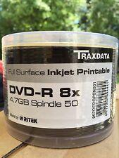 DVD-R TRAXDATA 8x 4.7GB à jet d'encre imprimable x50 (*)