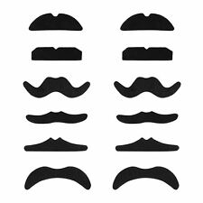 12 Adhesive Fake Moustache Photo Booth Props Stag Hen Night Party Fancy Dress UK