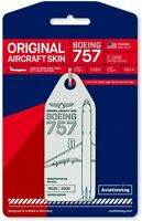 Delta Airlines Boeing 757-200 Tail #N646DL Genuine Aluminum Plane Skin Bag Tag