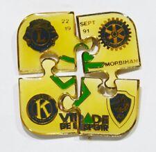 PINS ASSOCIATION KIWANI VIRADE DE L'ESPOIR MORBIHAN 1991 FORME PUZZLE