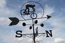 Weathervanes- Steel Cyclist  Weathervane- NOW REDUCED