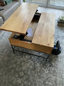 Lift Up Industrial Mango Wood Coffee Table By West Elm