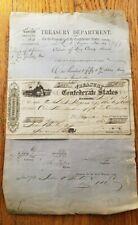 Original Civil War Confederate Treasury Warrant with Pay Voucher 1863 - SC Seal