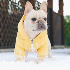 Pet Clothes For Small Medium Dogs French Bulldog Pugs Hooded Coat Outwear Jacket