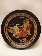 Greek Mythology Greek God Zeus and Leda Rare Ancient Greek Art Pottery Plate