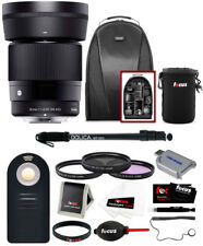 Sigma 30mm f/1.4 DC DN Contemporary Prime Lens for Sony E-Mount with Bundle