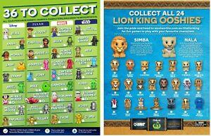 Woolworths Ooshies Disney Pixar Marvel Star Wars Lion King Various $5 - $10 each