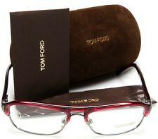 NEW TOM FORD TF 5026 130 RED /CLEAR /SILVER EYEGLASSES GLASSES 53-16-135mm Italy