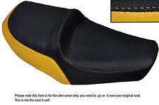 YELLOW & BLACK CUSTOM FITS YAMAHA XS 650 SE DUAL LEATHER SEAT COVER