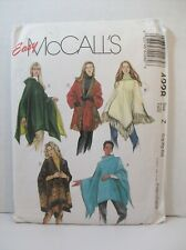 McCall's Pattern 4228 Misses Poncho Wraps Hooded Reversible Size Z (L, XL, XXL)
