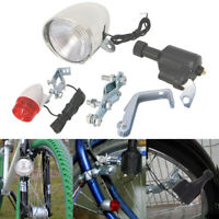 Motorized Bike Bicycle Friction Dynamo Generator Head Tail Light Acessories Kit