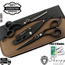 Professionali per Parrucchieri Set Forbici Sfoltitrici da Barbiere 16.5cm Sharpy