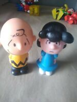 Set of 2 Peanuts Movie Toy McDonalds Figures Lucy and Charlie Brown untested!!