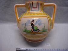 vase 2 anses Desvres Fourmaintraux Breiz Pierrick style Henriot Quimper (réfL70)