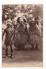 EXPOSITIONS Marseille expo coloniale SENEGAL Un groupe de danseurs sénégalais