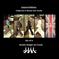AWESOME Set 4 BEATLES JOHN PAUL GEORGE RINGO Memorabilia Collectible Art Card bc