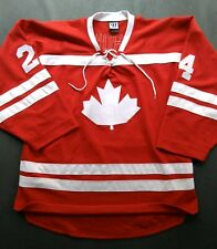 Vtg Team Canada Hockey Jersey Rob Brown Authentic Warrior Stitched Men's Lg NHL