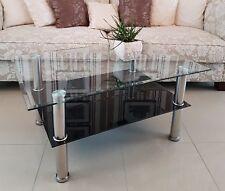 Tabula** / Couchtisch Stubentisch Tisch Wohnzimmertisch Glas Schwarz m. Glitzer