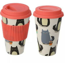 Feline Fine Cat Eco-friendly Biodegradable Bamboo Travel Cup