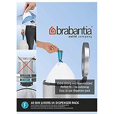 120 X Brabantia PerfectFit Bags Size F 20 Litre Slim Bin Bags